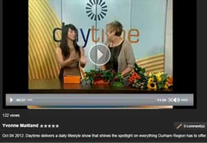 Apple Blossom Flowers on Rogers Daytime TV