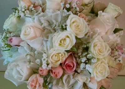 Bridal Bouquet Roses Pink white