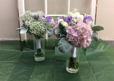 Bridal Bouquet Mauve White Roses