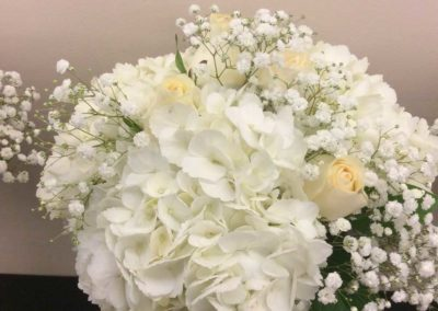 Bridal Bouquet White and Soft Cream Roses
