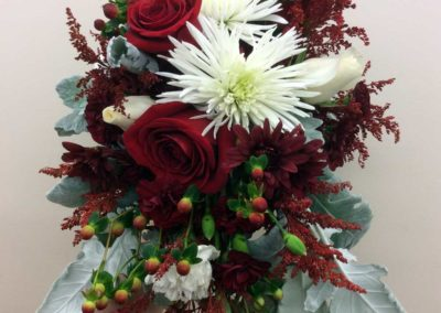 Bridal Bouquet Red White