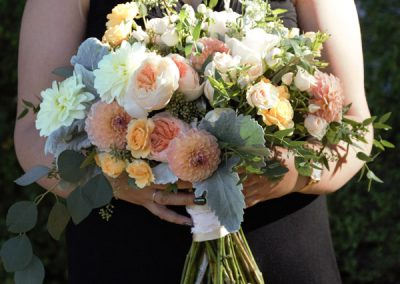 Bridal Bouquet, Fall, Oranges, Roses