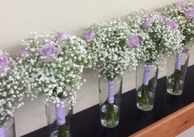 Bridal Bouquet, Babies Breath and Roses